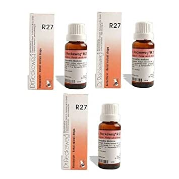 3 x Dr  Reckeweg - Homeopathic Medicine - R27 - Kidney Stone Drops