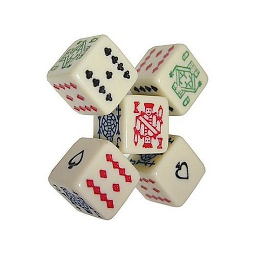 Da Vinci 6 Sided poker dice. Play a game of draw poker with