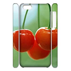 ALICASE Diy 3D Protection Hard Case Cherry For Iphone 5C [Pattern-1]