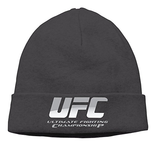 UFC Ultimate Fighting Championship Logo Beanies Cap Black (Beanie Embroidered Ufc)