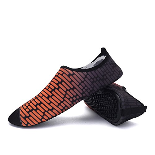 On Men Women Water Sneaker Outdoor Holey 5Orange and Ventilation Dry Quick Sports Shoes Outsole Kids' Pull KPU dfIqfxrX
