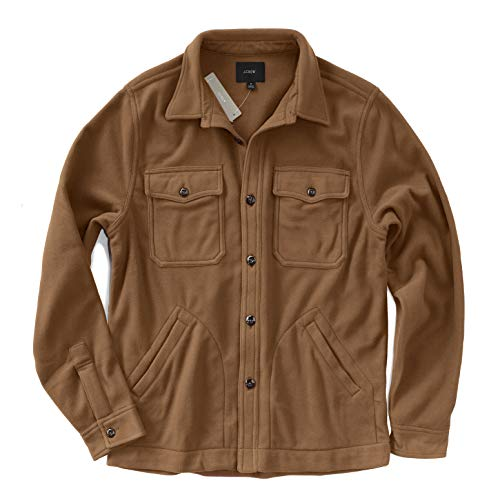 Used, J.Crew Men's Long Sleeve Fleece Over-Shirt Jacket (X-Large, for sale  Delivered anywhere in USA
