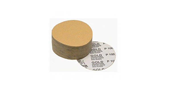 Mirka Abrasives 23-342-220 Mirka 23 Series Gold 6 PSA Linkrol Disc 220-Grit C-Weight Backing