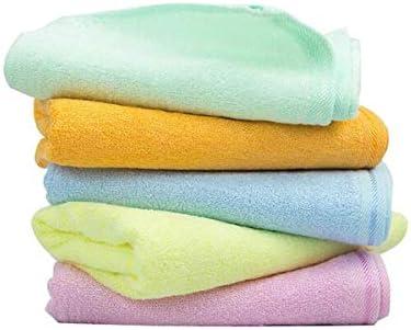 CQIANG タオル、子供用タオル、強力吸収性タオル、黄色/オレンジ色の多色オプション48 * 27 Cm (Color : Yellow)