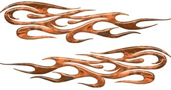 Full Color Tribal Reflective Inferno Orange Flame (Tribal Flames)