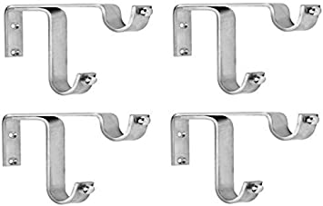 ddrapes 4 strong double ss bracket for 2 curtain rod