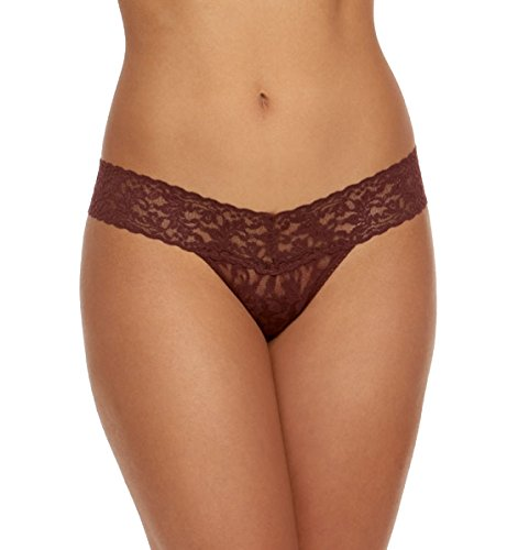 Hanky Panky Women's Signature Lace Low Rise Thong Hickory One Size