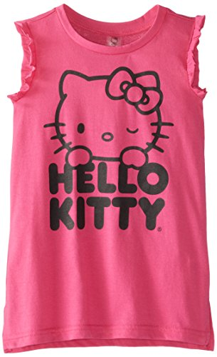 Hello Kitty Little Girls' Pink Tank Cover Up, Hot, 6X