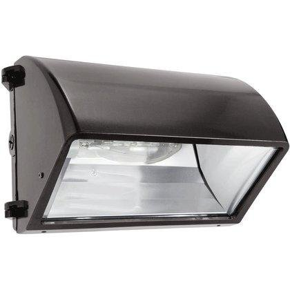 RAB Lighting WP2CH70 WP2 Metal Halide Wallpack with Cutoff Glare Shield, ED17 Type, Aluminum, 70W Power, 5600 Lumens, 120V, Bronze Color by RAB Lighting ()