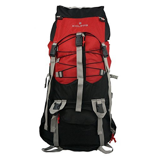 K-Cliffs Hiking Internal Frame Camping Backpack Scout Daypack Outdoor Mountain Travel Bag with Rain Cover,Large,Red [並行輸入品]   B0793T8GVY