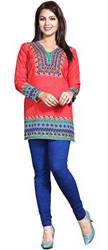 Maple-Clothing-Womens-Printed-Kurti-Tunic-Top-Short-Blouse-Indian-Clothes