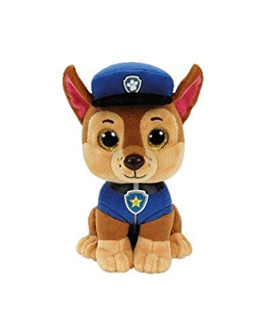 45618cfc8e8 Image Unavailable. Image not available for. Color  TY Beanie Boos Regular  Plush (CHASE Paw Patrol)