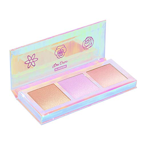 Lime Crime Hi-Lite Blossom Highlighter Palette – Warm-N-Cool Iridescent Powder Trio – For All Skin Tones – In 3 Shades, Gold, Lavender Sunset – For Face or Body – Vegan