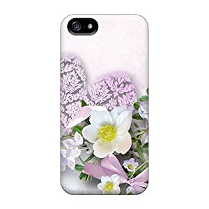 Joseph Lee Case Cover For Iphone 5/5s - Retailer Packaging Heart Shaped Flowers And Teddy Bear Protective Case