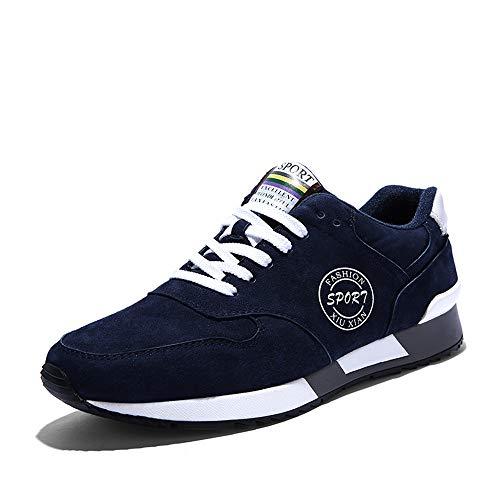 Scarpe da Ginnastica da Uomo Sportive Stringata Sneaker Basse Classica Casual 38-44 Blu