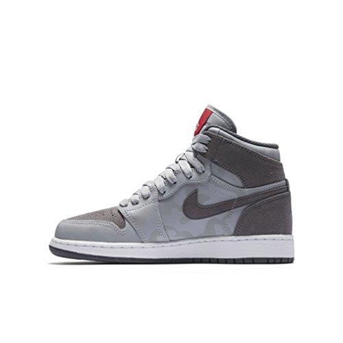 Nike Boy's Air Jordan 1 Retro High Premium Basketball Shoe (GS)