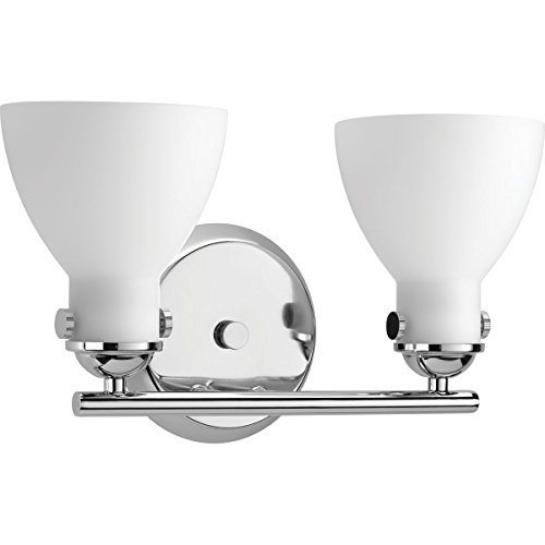 Progress Lighting P2771-15 Contemporary/Soft 2-100W Med Bath Bracket, Polished Chrome by Progress Lighting