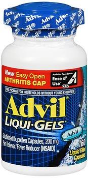 Advil Liqui-Gels - 160 ct, Pack of 6