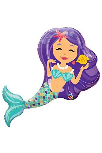 "Q57815 Enchanting Mermaid 38"" Qualatex Foil Supershape Balloon (Basic pack) ()"