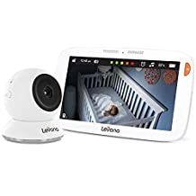 "Levana Amara 7"" Touchscreen Video Baby Monitor with 12 Hour Battery Life, Rapid Recharging, Feeding/Nap Timer, Temperature Alerts and Split or Quad Screen View"