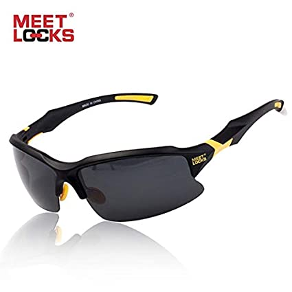 d3772edc71 Buy World 2 home MEETLOCKS Bike Cycling Glasses Sports Sunglasses UV 400  Polarized Lens for Fishing Golfing Driving Running Eyewear with case Online  at Low ...