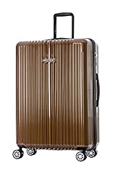 "Germany NaSaDen 26"" Luggage Coffee Gold-Hardside Travel Checked Luggage-Super Lightweight, 360° Spinner Wheels, TSA Luggage Lock-Schloss Sanssouci Zipper Luggage for Women/Men/Business/Trip/Travel"