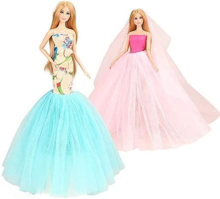 Amazon.es: Miunana 2X Trajes de Vestidos para Barbie Dolls ...