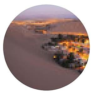 alfombrilla de ratón Desierto de Atacama, Oasis de Huacachina, Perú - ronda - 20cm