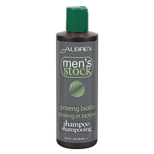 Aubrey Men's Stock Ginseng Biotin Shampoo & Scalp Energizer | Formula For Thicker, Healthier Looking Hair | Ho Shou Wu & Nettle | All Hair Types | -