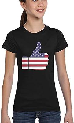 AIZENN - Camiseta con diseño de bandera americana, Mujer, color negro, tamaño extra-small: Amazon.es: Deportes y aire libre