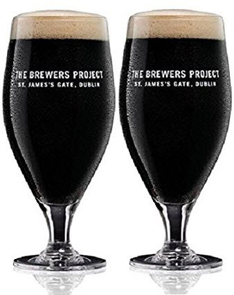 Guinness The Brewers Project Limited Edition Pint 20 OZ Glass (Set of 2)