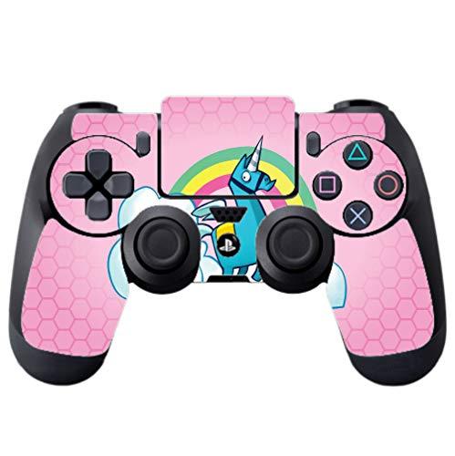 Rainbow Unicorn Pink Background Design PS4 DualShock4 Controller Vinyl Decal Sticker Skin by egeek amz [video game]