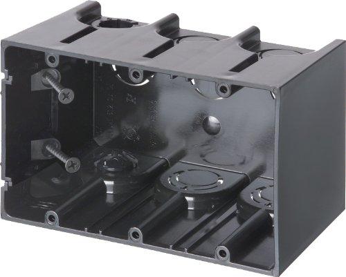 Arlington Industries F103 3-Gang Vertical Outlet Side Mount Box, 25-Pack