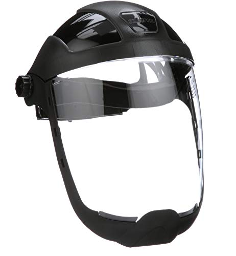 Sellstrom S32210 Clear Anti-Fog Polycarbonate Faceshield with Extended Chin Guard, Ratchet Headgear, ANSI Compliant by Sellstrom (Image #6)