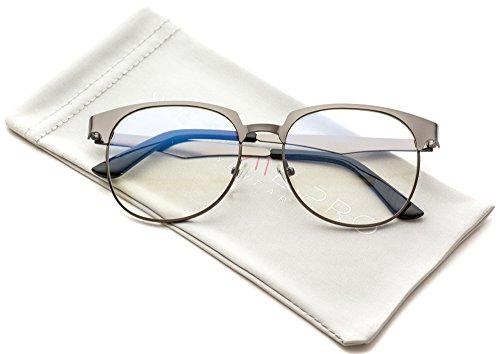 WearMe Pro - Geometric Rectangular Modern Prescription Frame Clear Lens - Modern Glasses Mens