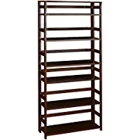 Regency Flip Flop 67-inch High Folding Bookcase- Mocha Walnut