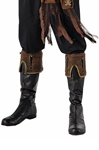 Forum Novelties Pirate Brown Boot Cuffs ()