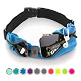 Sport2People Running Belt USA Patented – iPhone X 6 7 8 Plus Pouch for Runners - Best Fitness Gear for Hands-Free Workout - Freerunning Reflective Waist Pack Phone Holder - Running Accessories