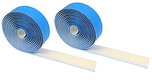 Domain Cycling EXTRA LONG Gel Bicycle Handlebar Bar Tape Wrap for Road Bikes and Cycling (Blue) (Put Road Bike Handlebars On Tri Bike)