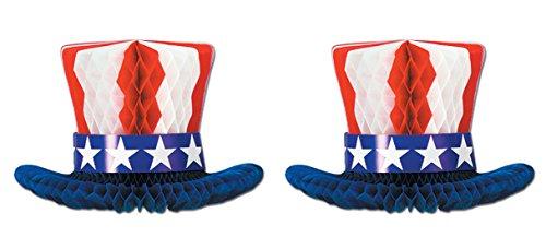 - Beistle S55990AZ2, 2 Piece Patriotic Centerpieces, 12''