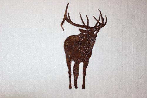 Bull Elk Bugling Front View Metal Wall Art Country Rustic Hunting Home - Bugling Decal Elk
