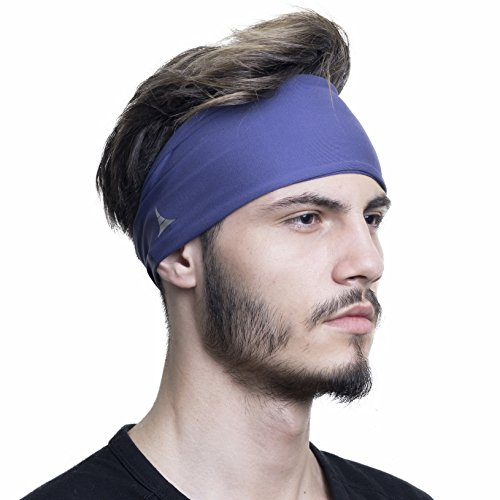 French Fitness Revolution Mens Headband - Guys Sweatband & Sports Headband for Running, Crossfit, Working Out and Dominating Your Competition - Performance Stretch & Moisture Wicking
