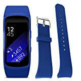 For Samsung Gear Fit2 Pro Fitness - Sunfei Luxury Silicone Watch Replacement Band Strap (Dark Blue)