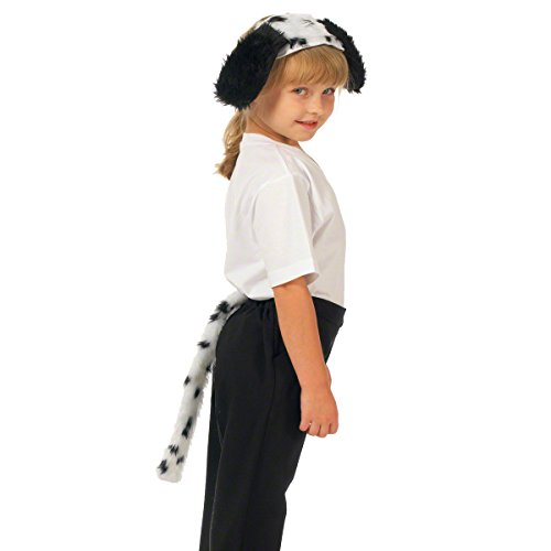 Dalmatian Ears and Tail Set. Costume accessory for kids. ()