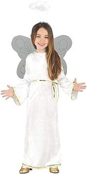 GUIRMA 42477 - Disfraz de ángel para niña, Color Blanco, 10-12 ...