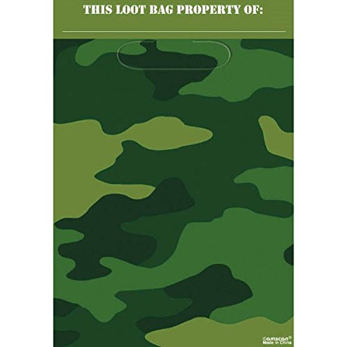 Adventurous Camouflage Loot Bags Birthday Party Favours Toy and Prize Giveaway Supplies,7