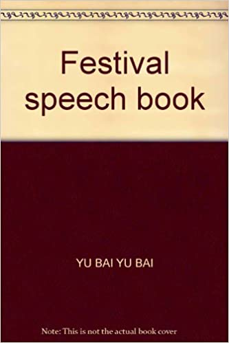 Book Festival speech book