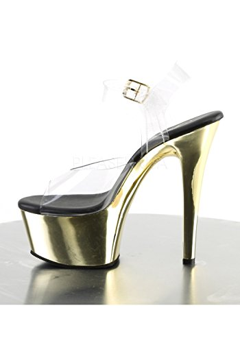 Gold Clr Pleaser Chrome Femme Ouvert Bout Aspire 608 xwZq7