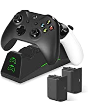 innoAura Xbox One Controller Charger, Dual Slot Docking/Charging Station with 2 x 1600mAh Battery Packs for Xbox One (S) / X/Elite Controller