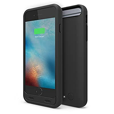 1byone 3,100 mAh Battery Case for iPhone 6 / 6s, External Protective Charging Case with 2 Colors Frames (Apple MFi Certified), Black